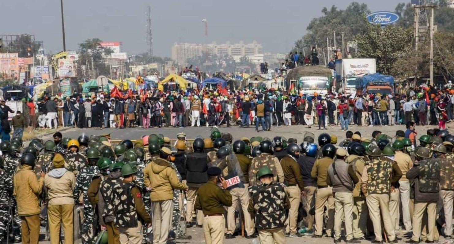 Proteste dei contadini a Nuova Delhi
