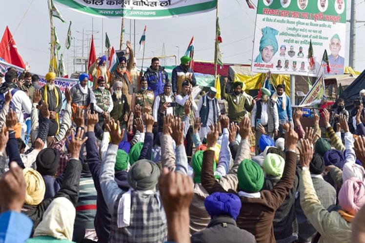 India, agricultores, protesta