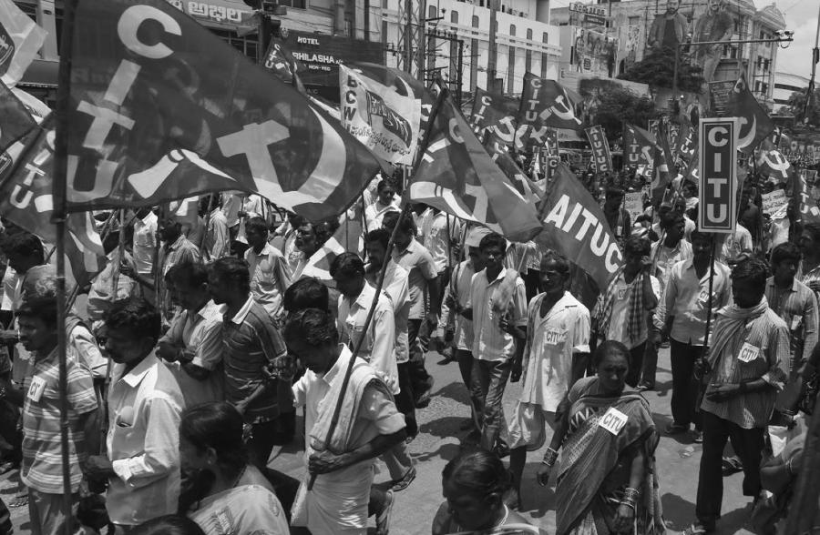 India huelga general partido comunista la-tinta