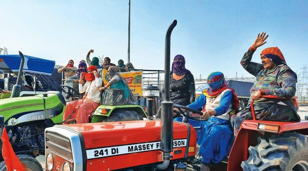 Agricultoras, durante las protestas en India. Foto: Ramshankar jat.
