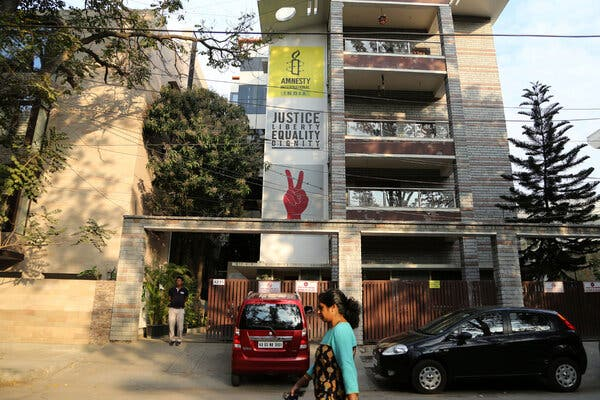 The Amnesty International India headquarters in Bangalore in 2019.