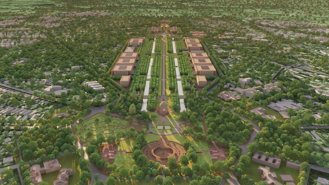 The project will see an overhaul of buildings and public space along New Delhi's central boulevard, Rajpath.